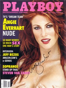 Angie Everhart autographed 2000 Playboy magazine