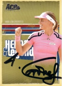 Anna-Lena Groenefeld autographed 2006 Ace Authentic tennis card