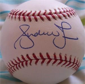 Andruw Jones autographed MLB baseball