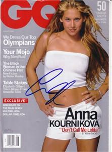 Anna Kournikova autographed August 2000 GQ magazine
