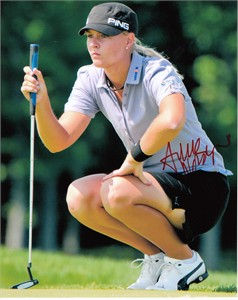 Anna Nordqvist autographed 2009 LPGA Championship 8x10 photo