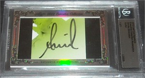 Annika Sorenstam certified autograph 2012 Leaf Executive Masterpiece Cut Signature card #1/1