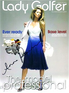 Anna Rawson autographed Lady Golfer magazine cover 8x10 photo