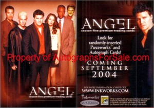 Angel Season 5 2004 Inkworks promo card A5-SD2004