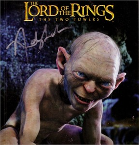 Andy Serkis autographed Lord of the Rings Gollum 8x8 magazine photo
