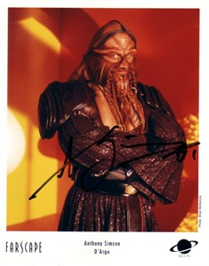 Anthony Simcoe autographed Farscape 8x10 D'Argo photo