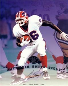 Antowain Smith certified autograph Buffalo Bills 1997 Leaf 8x10 photo card