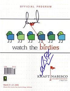 Annika Sorenstam & Ai Miyazato autographed 2005 LPGA Kraft Nabisco Championship golf program