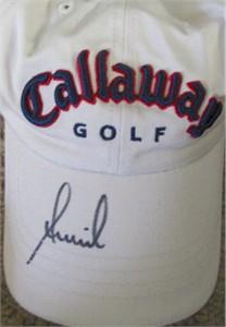 Annika Sorenstam autographed Callaway golf cap or hat