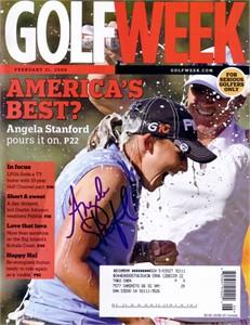 Angela Stanford autographed 2009 Golfweek magazine