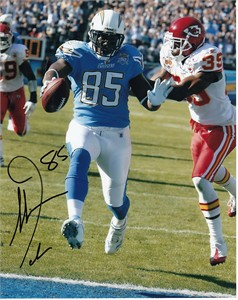 Antonio Gates autographed San Diego Chargers 8x10 photo