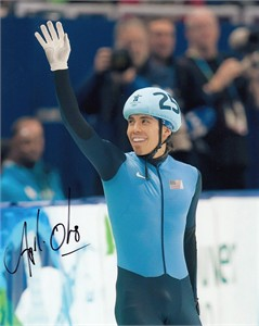 Apolo Anton Ohno autographed 2010 Winter Olympics 8x10 photo