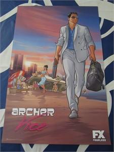 Archer 2014 San Diego Comic-Con 11x17 inch mini promo poster
