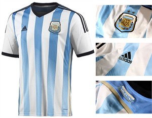 Argentina 2014 FIFA World Cup Adidas home soccer jersey or kit NEW WITH TAGS