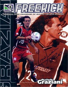 Ariel Graziani autographed MLS Dallas Burn program