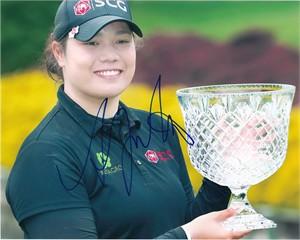 Ariya Jutanugarn autographed 2016 LPGA Kingsmill Championship 8x10 photo