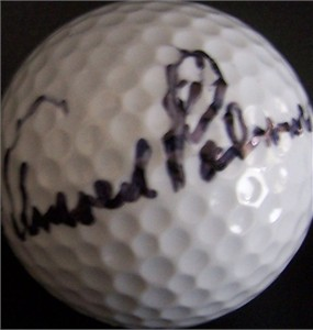Arnold Palmer autographed golf ball