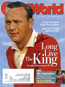 Arnold Palmer autographed 2009 Golf World magazine