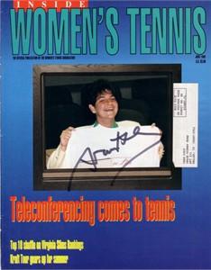 Arantxa Sanchez-Vicario autographed Women's Tennis magazine cover