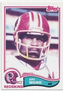 Art Monk Washington Redskins 1982 Topps card #515 NrMt-Mt