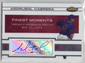 Asdrubal Cabrera certified autograph Cleveland Indians 2009 Topps Finest card