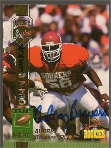 Aubrey Beavers Oklahoma certified autograph 1994 Signature Rookies card