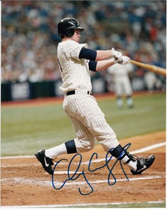 Aubrey Huff autographed 2000 rookie season 8x10 photo
