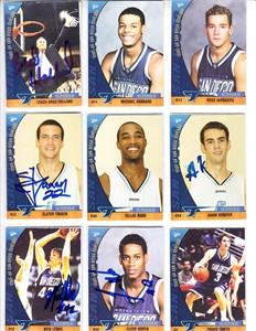 2003-04 University of San Diego Toreros autographed basketball card set (Brad Holland)