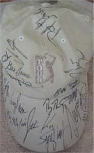 Autographed PGA Tour golf cap or hat (Mark Calcavecchia Stewart Cink Mark O'Meara Corey Pavin Bob Tway)