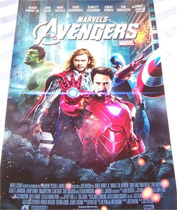 The Avengers 2012 mini movie poster (Captain America Hulk Iron Man Thor)
