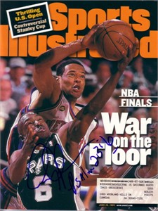 Avery Johnson autographed San Antonio Spurs NBA Finals Sports Illustrated