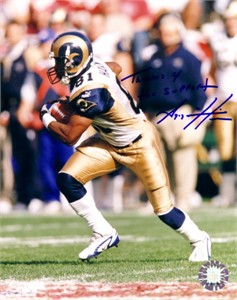Az-Zahir Hakim autographed St. Louis Rams 8x10 photo