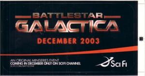 Battlestar Galactica miniseries 2003 promo sticker