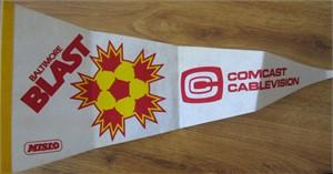 Baltimore Blast soccer MISL original 1990s felt pennant