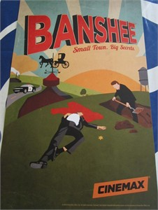 Banshee 2013 San Diego Comic-Con exclusive mini 11x17 inch Cinemax poster MINT