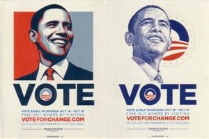Barack Obama 2008 Nevada campaign set of 2 decals