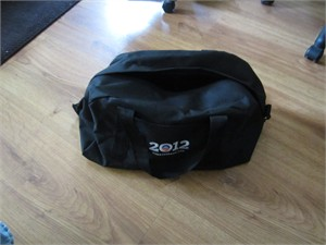 Barack Obama 2012 embroidered logo black duffel bag LIKE NEW