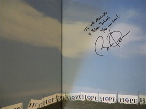 Barack Obama autographed Yes We Can hardcover book (inscribed To the students of Blake School)