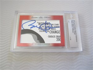 Barack Obama & Hillary Clinton 2016 Leaf Executive Masterpiece Cut Signature card #1/1