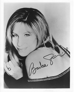 Barbra Streisand 8x10 promotional photo with facsimile signature