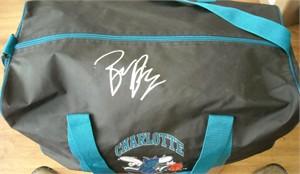 Baron Davis autographed Charlotte Hornets duffel bag