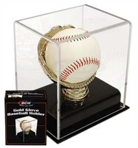 Baseball gold glove acrylic display case
