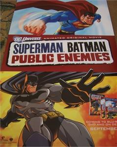 Batman Superman Public Enemies 2009 Comic-Con promo mini poster