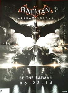 Batman Arkham Knight 2015 Comic-Con double sided promo poster