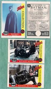 Batman Returns movie 1992 Zellers Canada 24 card set