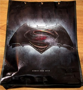 Batman Superman Dawn of Justice movie 2015 Comic-Con huge promo tote bag or backpack