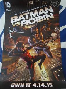 Batman vs. Robin cast autographed 2015 Wondercon poster (Stuart Allan Sean Maher Jason O'Mara)