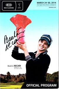 Beatriz Recari autographed 2014 LPGA Kia Classic golf program