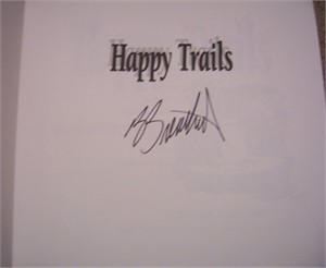 Berke Breathed autographed Bloom County Happy Trails book