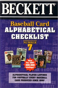 Beckett Baseball Card Alphabetical Checklist book #7 (1997)